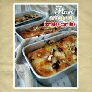 flan artichaut tomate noisette