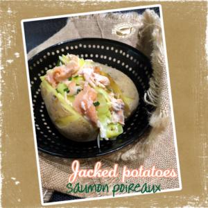 pomme de terre au four saumon poireaux
