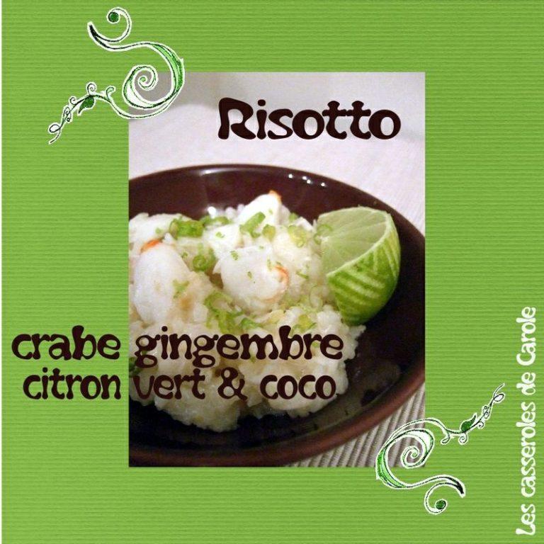 risotto crabe citron coco gingembre