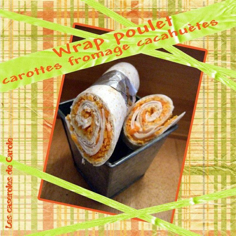 wrap carotte poulet cacahuète