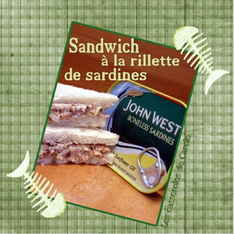 sandwich rillettes de sardine