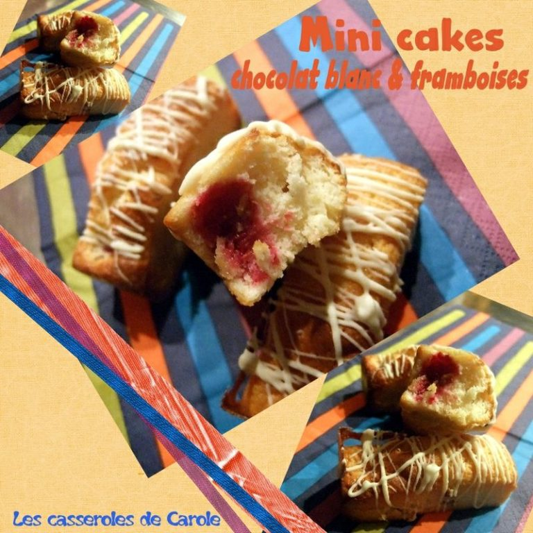 mini cake choocolat blanc framboises