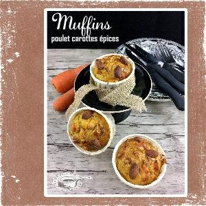 muffins carottes épices dinde