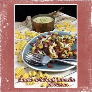 sauce artichaut pancetta parmesan
