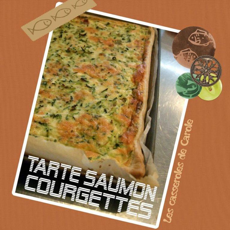 Tarte saumon courgettes