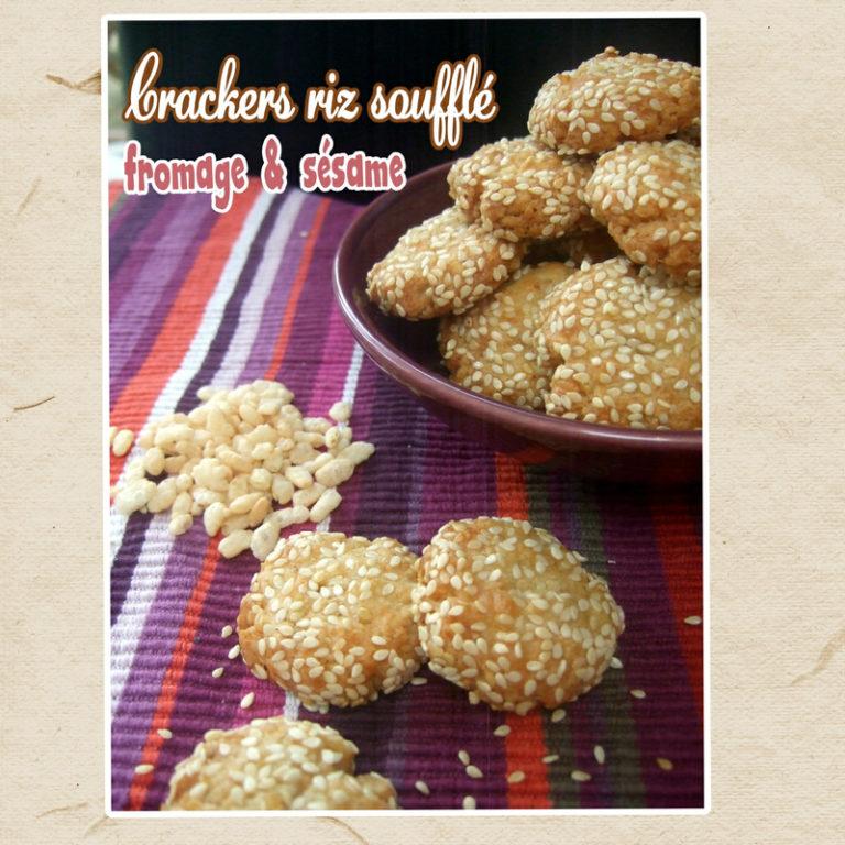 crackers sans gluten fromage et sésame