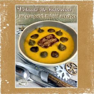 velouté butternut foie gras