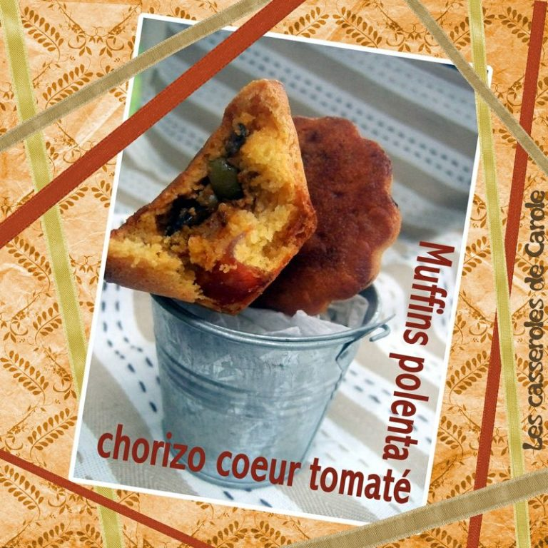 muffins polenta chorizo tomate