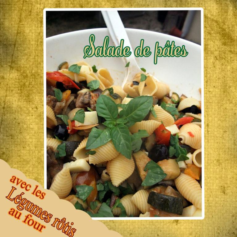 legumes rotis et salade de pates