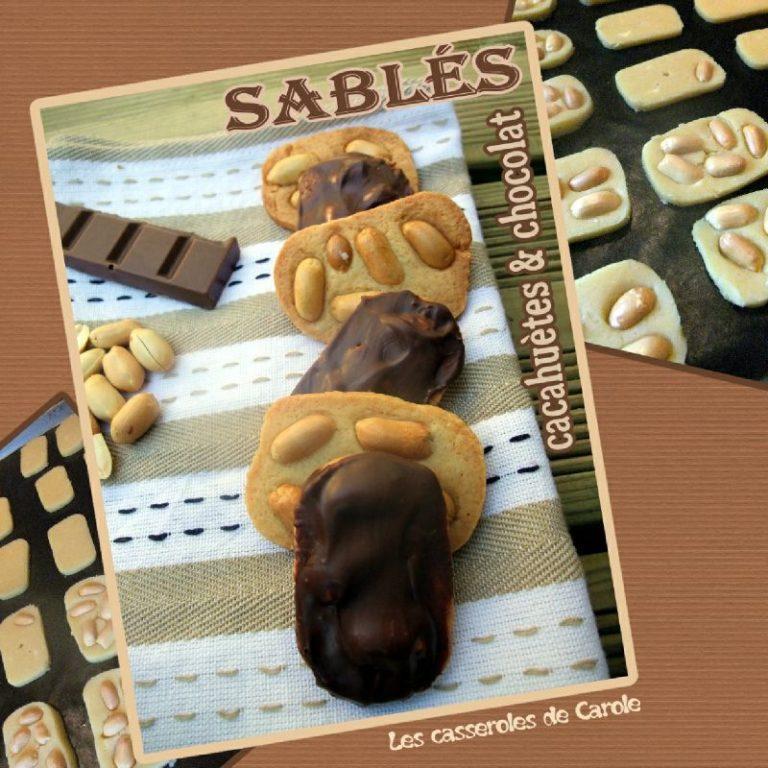 sablés cacahuètes et chocolat