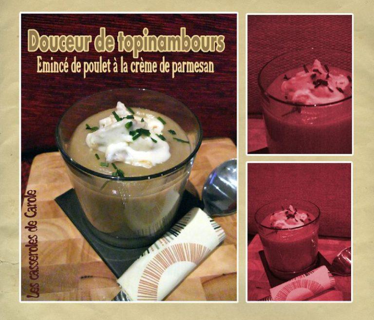 douceur de topinambour emince poulet crème de parmesan