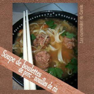 soupe boulettes nouilles de riz