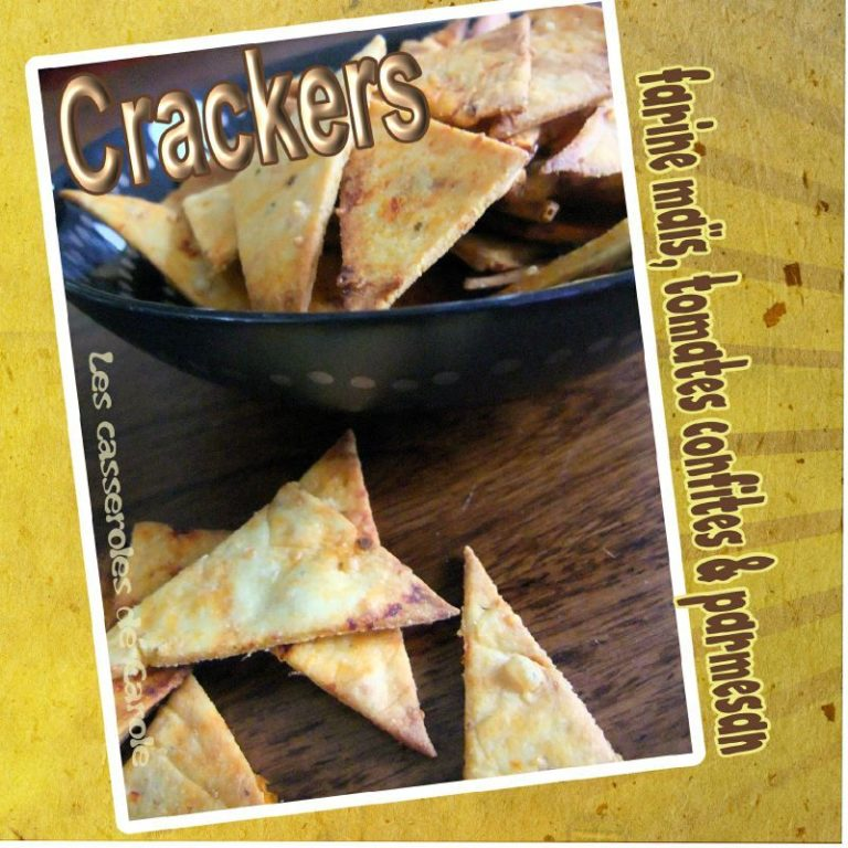 crackers mais tomates cerise parmesan