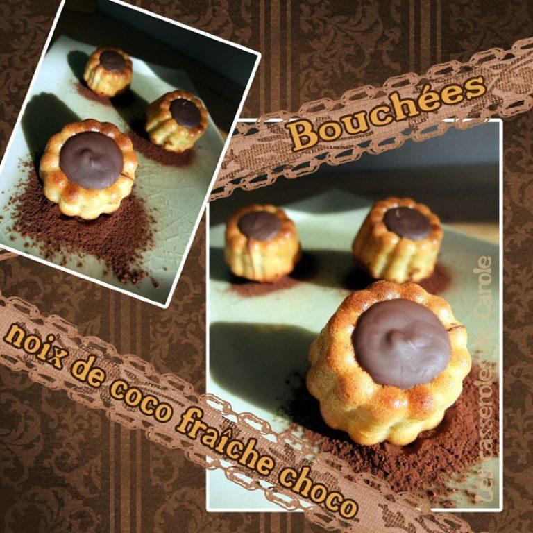 bouchées noix coco fraiche chocolat