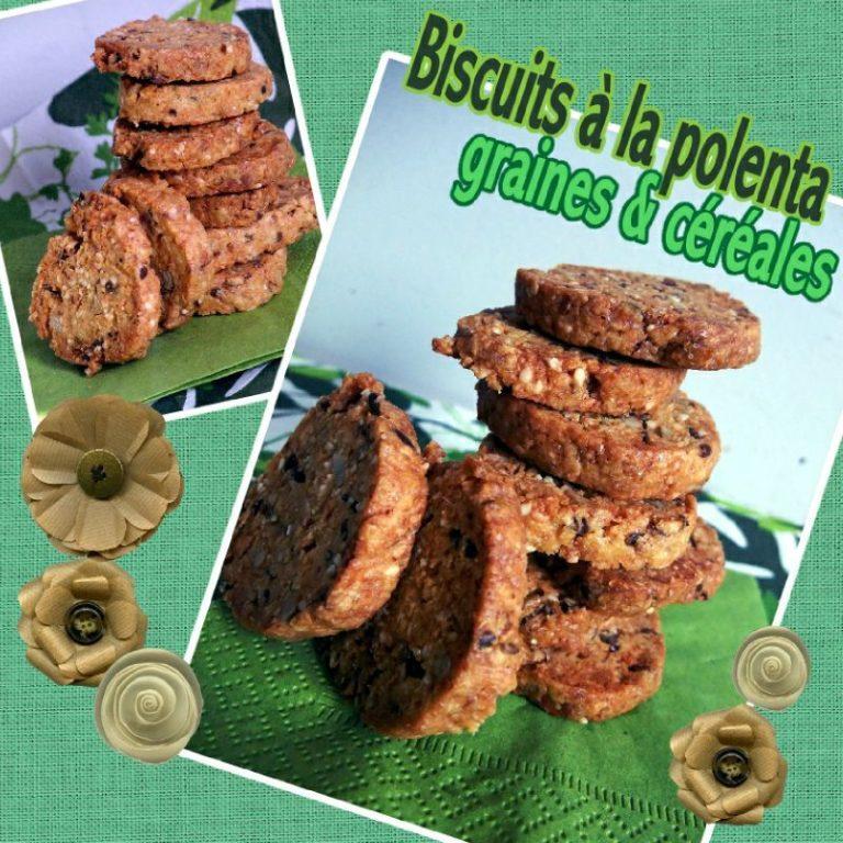 biscuits polent céréales et graines