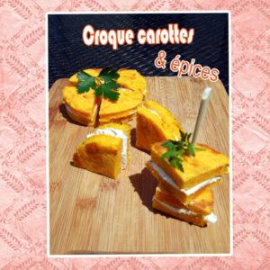 croque cake carotte sandwich sans pain