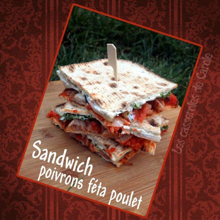 sandwiche poivrons feta