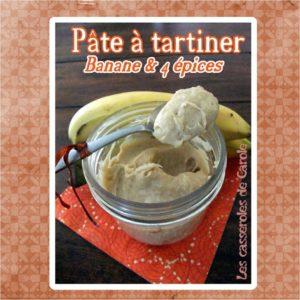 pâte tartiner bananes et épices