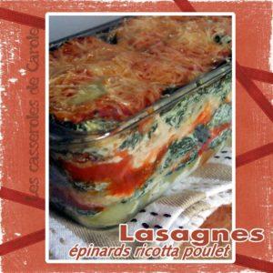 lasagnes épinard ricotta poulet