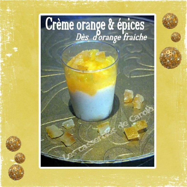 creme orange et epices orange fraiche