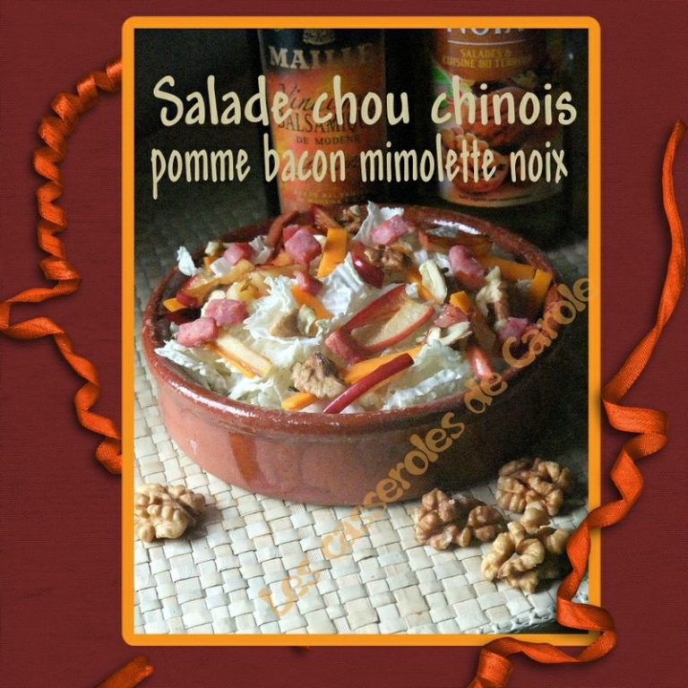 salade choux bacon mimolette pomme