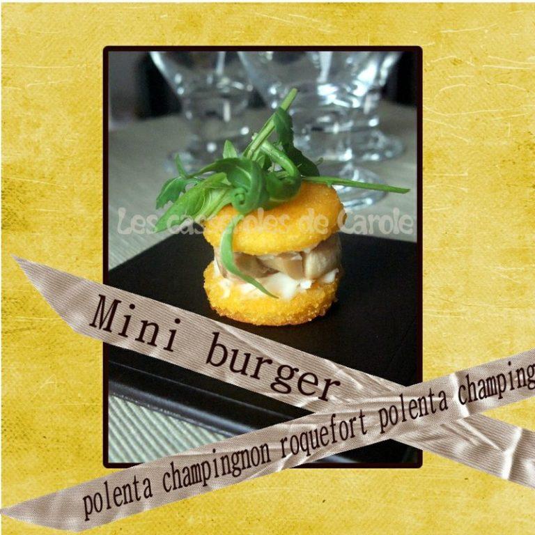mini burge polenta champignon roquefort
