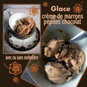 glace avec ou sans sorbetière marrons chocolat
