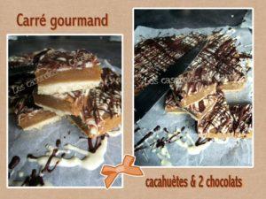 carré cacahuètes et chocolat