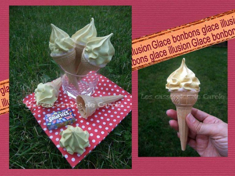 glace illusion bonbons