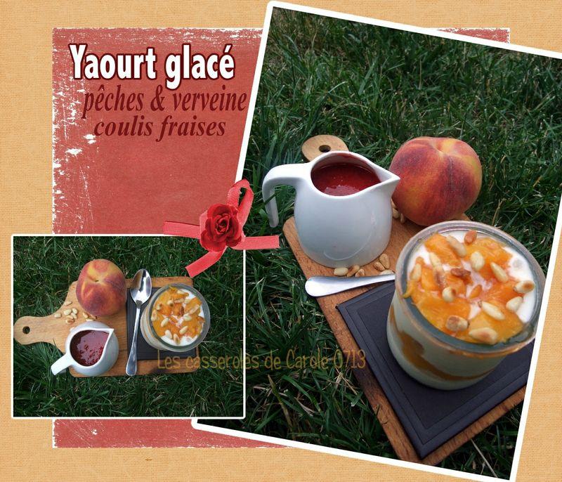 yaourt glacé pèche verveine
