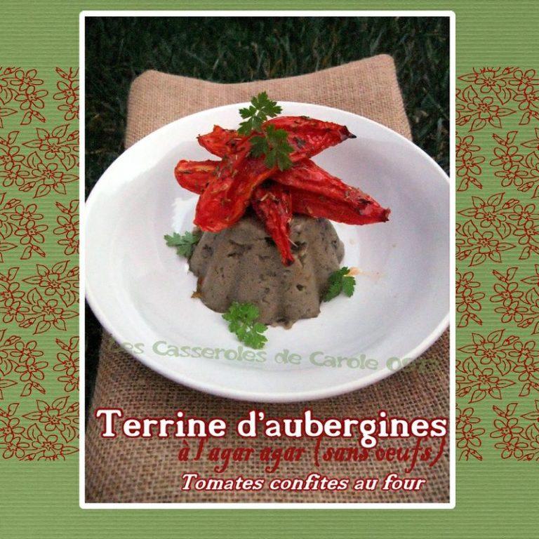 terrine sans oeuf à l'aubergine