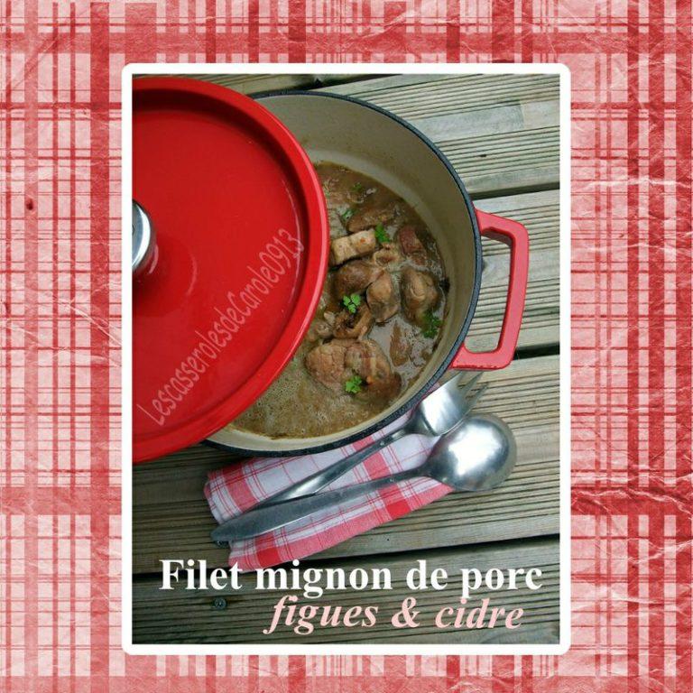 Filet mignon de porc figues et cidre