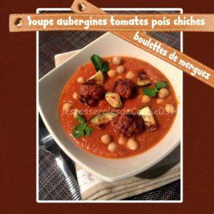 Soupe aubergines merguez