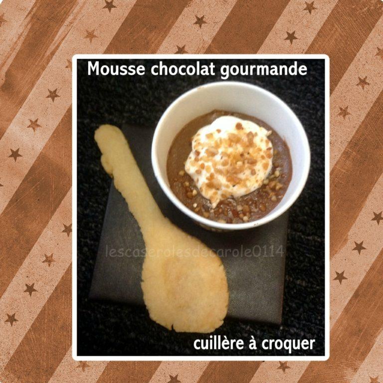 mousse chocolat cuillère à croquer