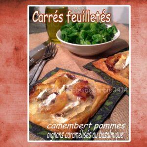 Carré feuilleté camembert pommes