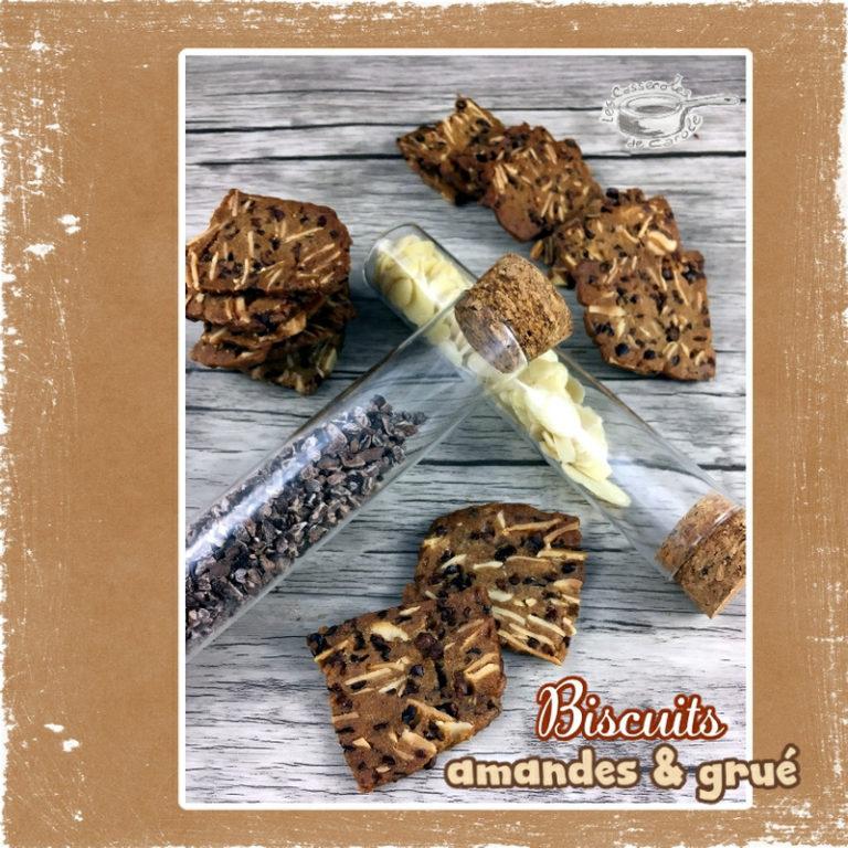 Biscuits amandes et grué cacao