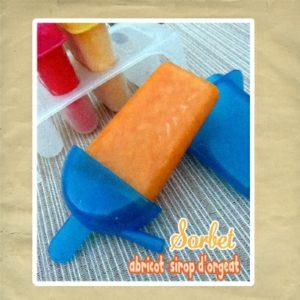 sorbet abricot orgeat