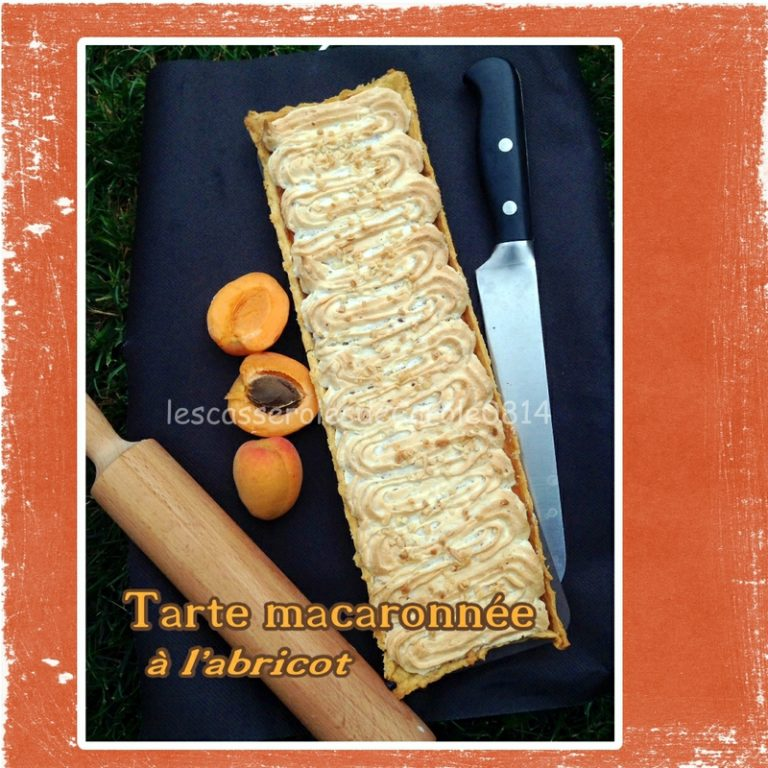 tarte macaronnée abricot