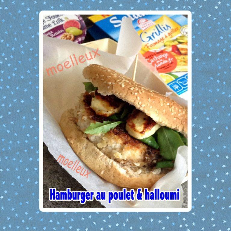 Hamburger poulet halloumi
