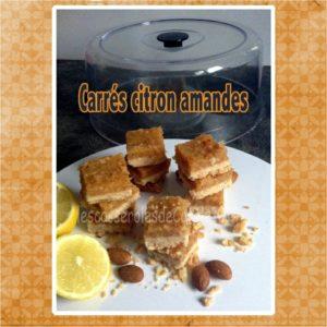 carrés citron amandes