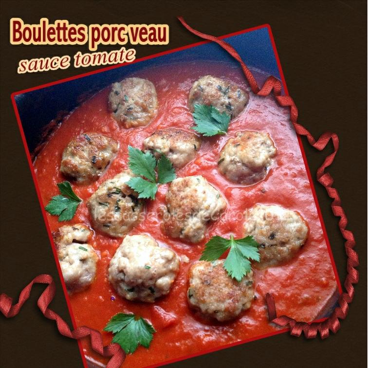 boulettes de veau sauce tomate