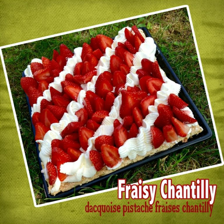 Gâteau fraises chantilly fraisy Chantilly
