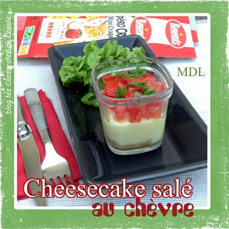 Cheesecake salé au chèvre