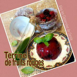 Terrine de fruits rouges