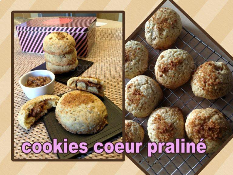 Cookies coeur praliné