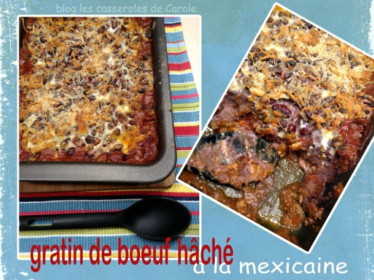 Gratin boeuf à la mexicaine