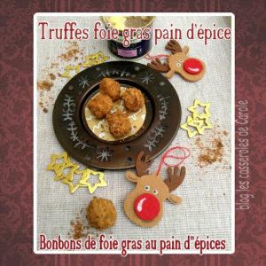 truffe foie gras pain d'épices