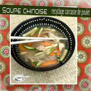 Soupe chinoise carcasse poulet