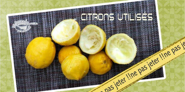 Citrons utlisés ne pas les jeter