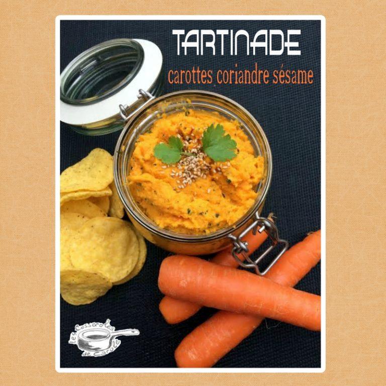 Tartinade carottes coriandre sésame